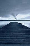 Tornado en el horizonte Foto de archivo libre de regalías