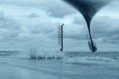 Tornado en el mar Fotografía de archivo libre de regalías
