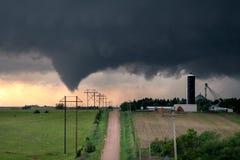 Tornado en Nebraska central imagen de archivo libre de regalías