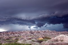 Tornado Forming in the Badlands royalty free stock photo