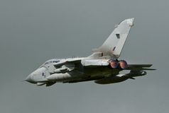 Tornado GR4. Wings swept reheat in Stock Photo