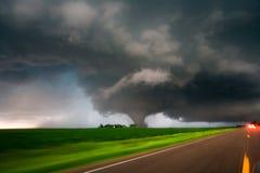 Tornado grande en Minnesota meridional imagen de archivo libre de regalías