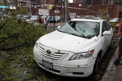 Tornado Hits New York City on SEPTEMBER 16, 2010 Royalty Free Stock Images
