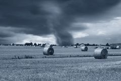 Tornado at horizon Stock Photos