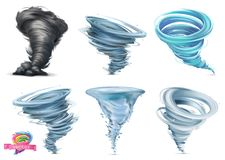 Free Tornado. Hurricane. 3d Vector Icon Set Royalty Free Stock Images - 159188859