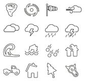 Tornado or Hurricane or Storm Icons Thin Line Vector Illustration Set. This image is a vector illustration and can be scaled to any size without loss of vector illustration