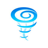 Tornado icon. Tornado whirlwind pillar icon isolated Royalty Free Stock Photos
