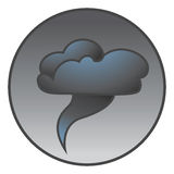 Tornado icon. Cartoon illustration of a tornado icon stock illustration