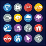 Tornado Icons Flat Design Circle. This image is a illustration and can be scaled to any size without loss of resolution royalty free illustration