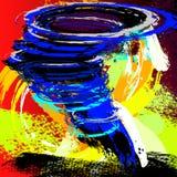 Tornado Illustration. Painting Illustration of a Tornado Stock Photography