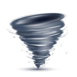 Tornado illustration. In vector on white background Royalty Free Stock Photography