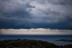 Tornado ist über Kefalonia, Griechenland geboren Stockfotos