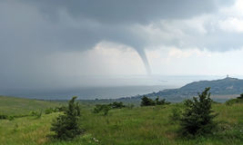 Tornado in the Kerch Strait Royalty Free Stock Photography