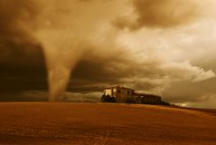 Tornado morgens stockbild