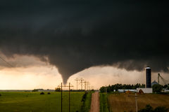 Tornado Near a Farm Royalty Free Stock Images