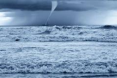 Tornado nel mare Fotografia Stock