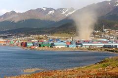 Tornado nella città di Ushuaia Fotografie Stock Libere da Diritti