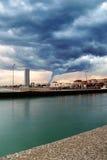 Tornado op de stad Royalty-vrije Stock Afbeelding