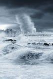 Tornado op de stad Royalty-vrije Stock Foto's