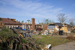 Tornado path of destruction Stock Photo