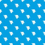 Tornado pattern vector seamless blue. Repeat for any use Royalty Free Stock Photos