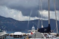 Tornado in Portofino Stock Image