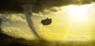 Tornado rujnuje dom Fotografia Stock