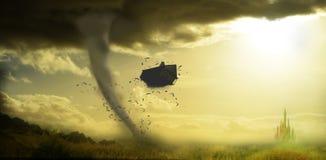Tornado rujnuje dom Fotografia Royalty Free