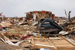 Tornado schädigendes Haus Joplin MO Stockbild