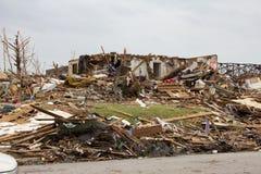 Tornado schädigendes Haus Joplin MO Stockbilder