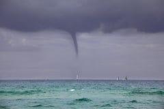 A tornado at sea Stock Photo