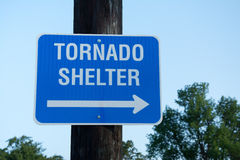Tornado shelter sign Royalty Free Stock Photography