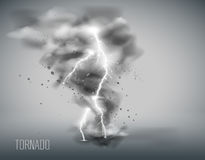 Tornado on a simple background. Vector illustration. Royalty Free Stock Image