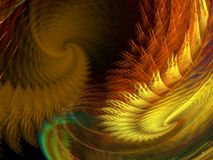 Tornado sky. Abstract fractal background created with apophysis Stock Photos