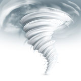 Tornado Sky Illustration. Realistic tornado swirl with dark clouds in sky vector illustration Royalty Free Stock Photography