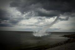 Tornado sobre el océano Imágenes de archivo libres de regalías