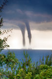 Tornado sopra il mare Immagine Stock