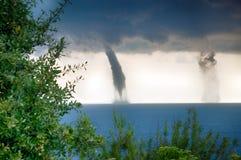 Tornado sopra il mare Fotografia Stock Libera da Diritti