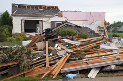 Free Tornado Storm Damage House Home Destroyed By Wind Stock Photography - 14895752