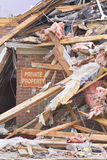 Tornado Storm Damage II. Catastrophic Wind Damage from a Midwest Tornado Stock Images