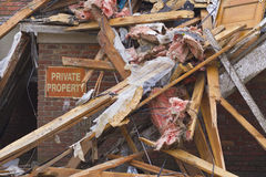 Tornado Storm Damage III Royalty Free Stock Images