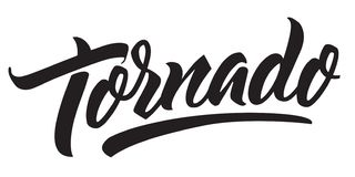 Free Tornado Storm Warning. Handmade Lettering Typography. Royalty Free Stock Image - 130592946