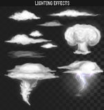 Tornado storm. Weather clouds . Cloud realistic effect stock illustration