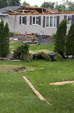 Tornado-Sturm Damge Haus-Haus zerstört von Wind Lizenzfreie Stockfotografie