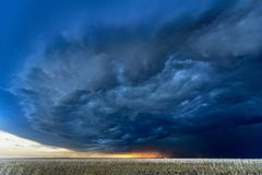Tornado Supercell in Oklahoma Stock Images