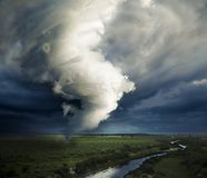 A large tornado forming about to destroy Royalty Free Stock Images