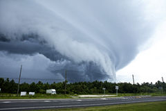 Tornado touching down Stock Photo