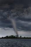 Tornado Touching Down Near Lake Royalty Free Stock Photo