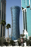 Tornado Tower in Doha, Qatar Royalty Free Stock Photography