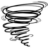 Tornado illustration by crafteroks royalty free illustration